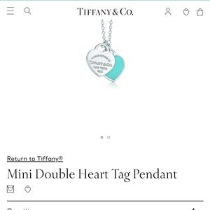 Tiffany's Mini Double Heart Tag Necklace